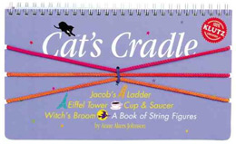 For the Cat's Cradle, a simple string loop is packaged with a book that shows some designs that one or two people can make with it and their hands.