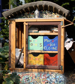 A typical 'Exchange Box' in front of a house in Portland.