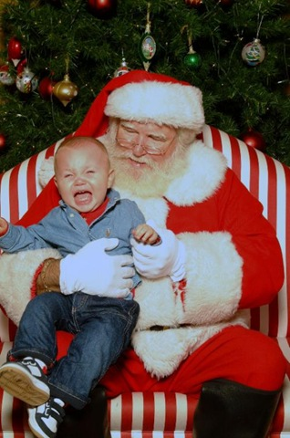 Did you ever force your child to sit in Santa's lap against his or her will?  How do you know when you've pushed your child too far?photo credit: jamesford.files.wordpress.com