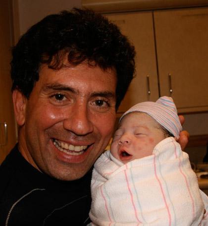Nico Lanza, born November 1, 2007, with his daddy.