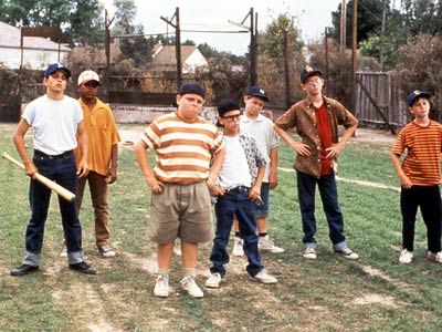 The movie 'Sandlot,' pictured above, is most kids' only exposure to pickup baseball these days.