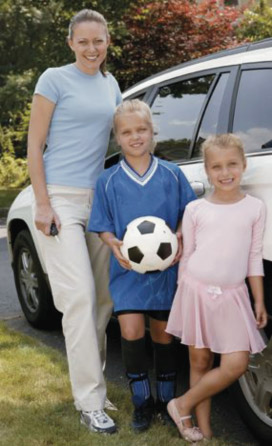 Soccer Mom and kids