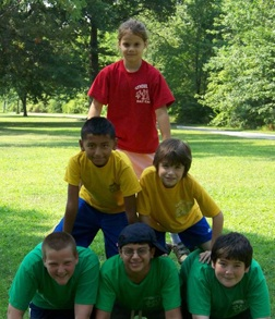 Can I teach kids how to play freely at our 'neighborhood summer camp,' then gradually fade into the background so that they can have *real* childhood summers with no adults around?  We'll see...  photo credit: lyndhurstnj.org