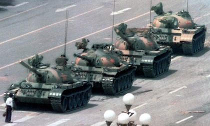 Remember the tank man at Tiannanmen Square in 1989? He looks a lot like the lone kid in an American neighborhood trying to play today. He's lonely. He's repressed. He needs our help.