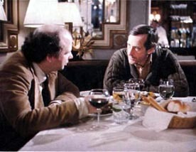 Andre Gregory offers Wally Shawn some sage thoughts in the film, 'My Dinner With Andre.'
